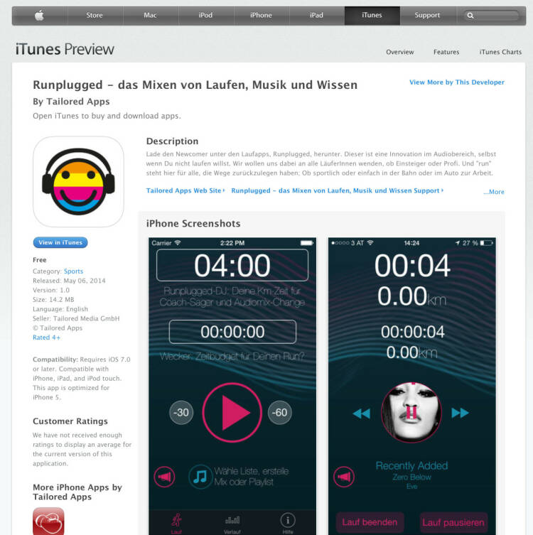(WEB / APP) Download im iTunes-Store unter http://bit.ly/1lbuMA9