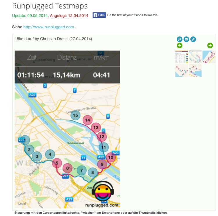 (WEB / APP) Runplugged-Maps sehen so aus: http://finanzmarktfoto.at/page/index/1178 - zum Sharen wie zB Mail oder Posten auf Facebook