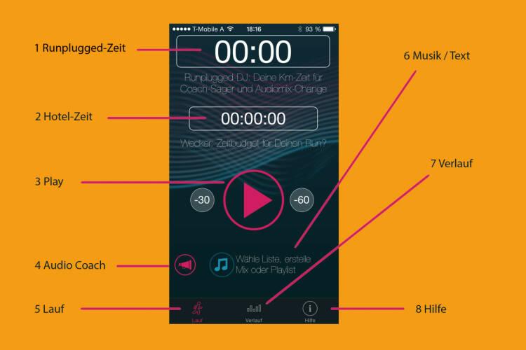 Runplugged Startscreen