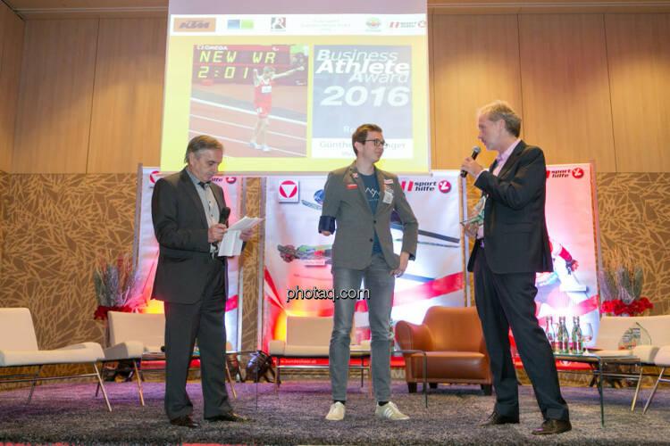 Hans Huber, Günther Matzinger, Christian Drastil (BSN)