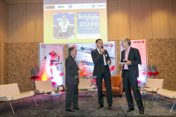 Hans Huber, Peter Haidenek (Polytec), Christian Drastil (BSN)