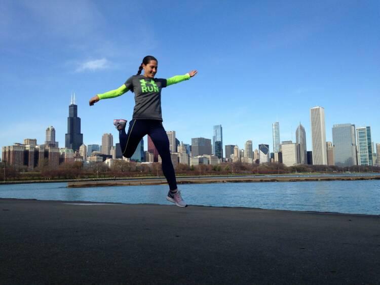 Monika Kalbacher Nominierung Mein Sportschnappschuss 2016 ...beim Laufen in Chicago.. - Voten und/oder auch sich selbst nominieren unter http://www.facebook.com/groups/Sportsblogged