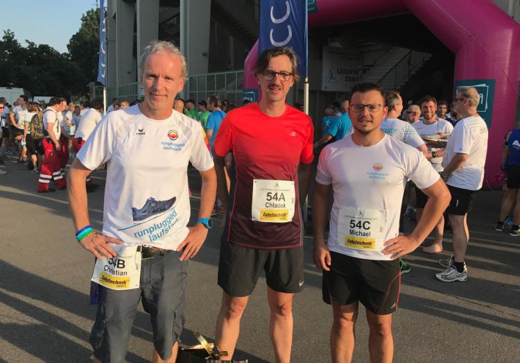 Runplugged Laufstark Team - Christian Drastil, Josef Chladek, Michael Plos
