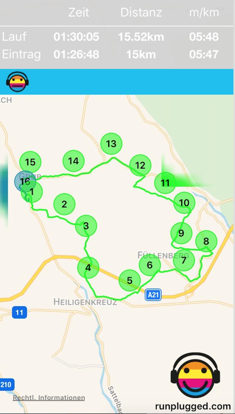 Im Wienerwald mit http://www.runplugged.com/app