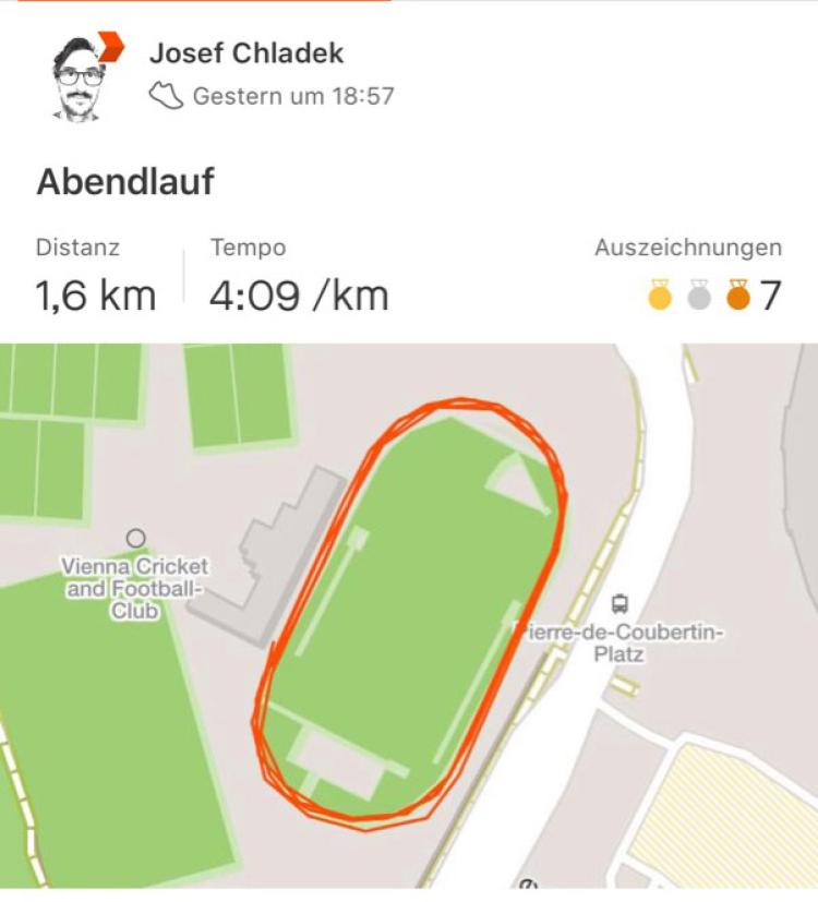 Meine erste Meile, 6:40, 4:09 Schnitt