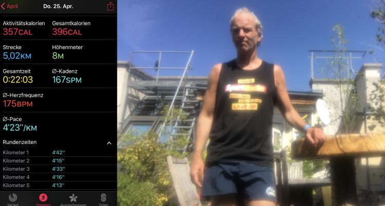 """Shirt: """"Meine Sport Woche besteht vor allem aus Laufen"""""""
