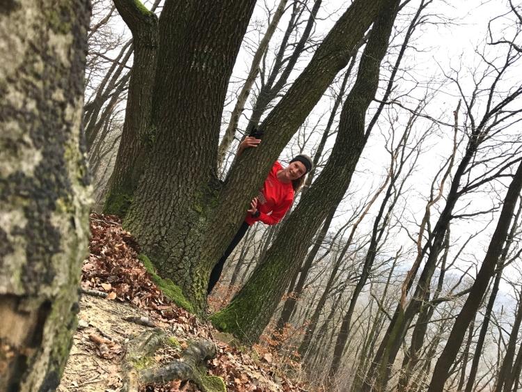 immer happy im Wald