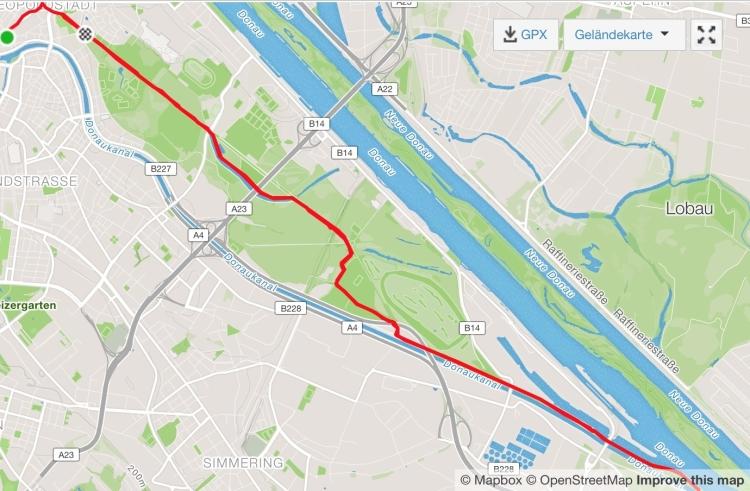 21,21km Hauptalle - Praterspitz